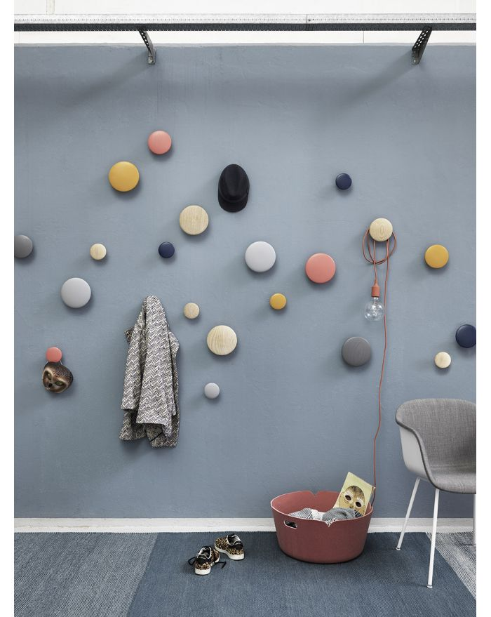 MUUTO-THE DOTS Patère Small Gris