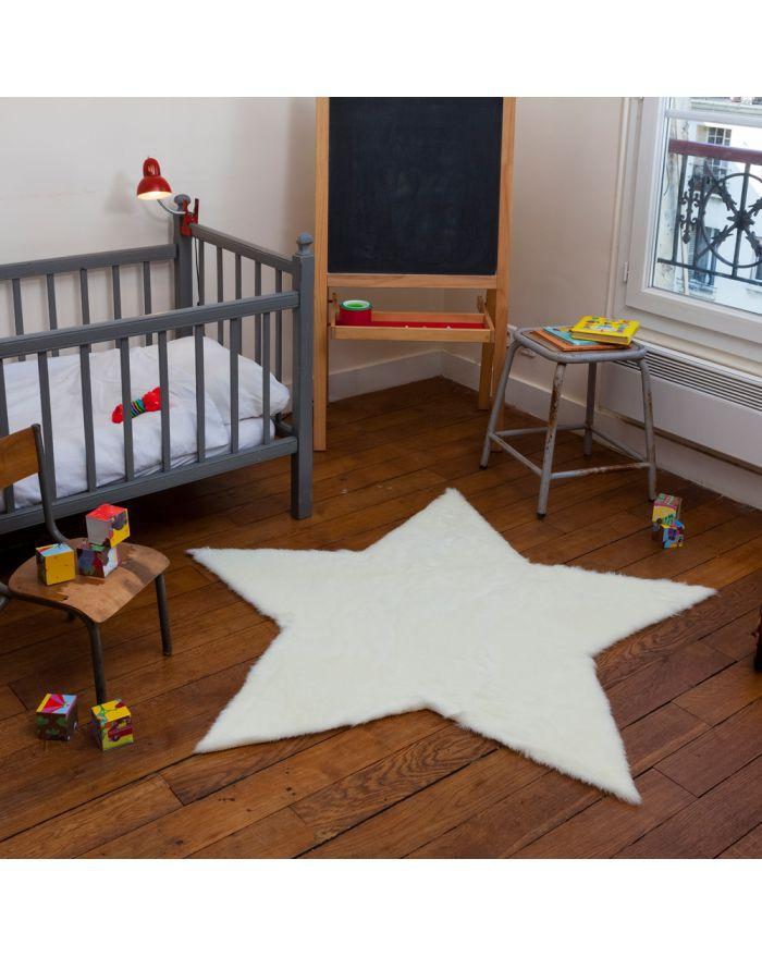 Tapis enfant en fausse fourrure d coration pour chambre d 39 enfant design - Toile antiderapante pour tapis ...