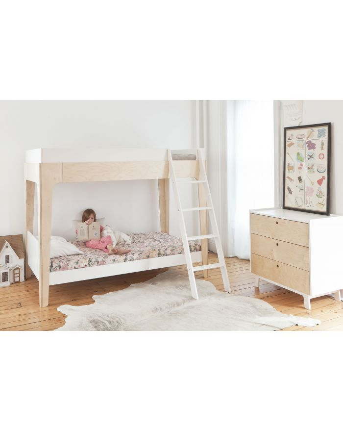 OEUF-PERCH-Lit superposé enfant design Blanc et Bouleau