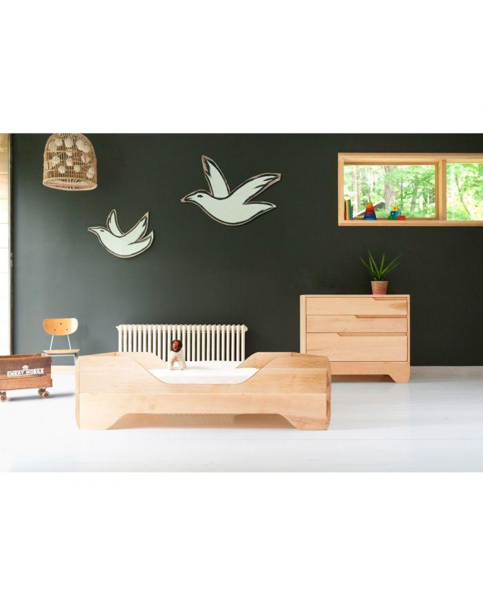 Lit Bois Naturel Design : ECHO par Kalon Studios, lit b?b? ?volutif et design en bois massif