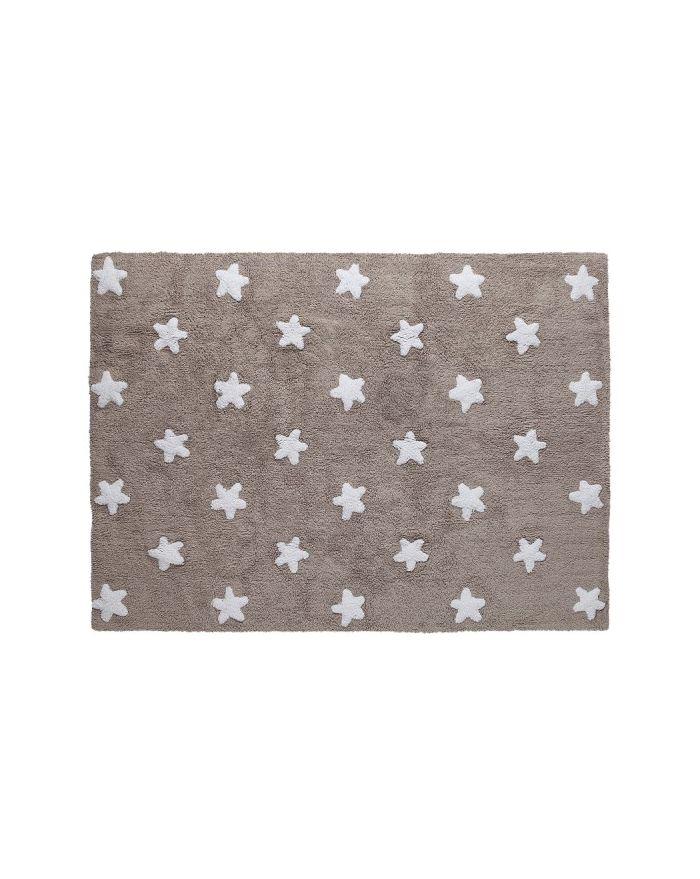 LORENA CANALS-TAPIS COTON ETOILES-Beige avec étoiles crême 120 x 160 cm