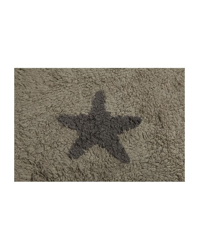 LORENA CANALS-TAPIS COTON-Beige avec étoiles gris foncé 120 x 160 cm