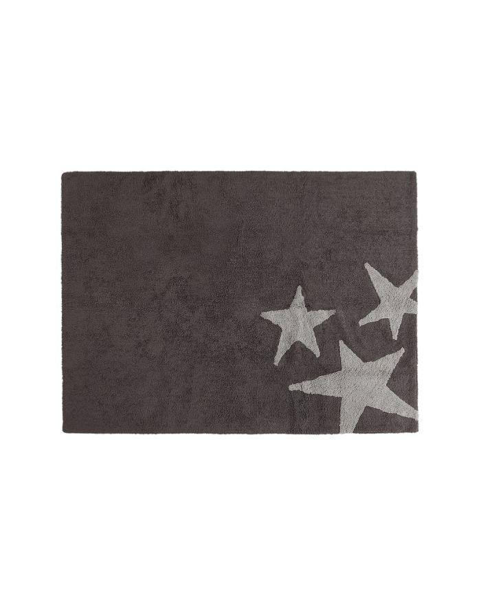 LORENA CANALS-TAPIS COTON  3 ETOILES-Fond taupe et 3 étoiles 120 x 160 cm