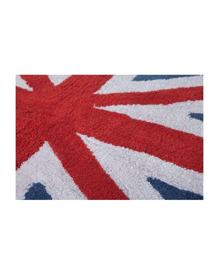 LORENA CANALS-TAPIS COTON FLAG UK-CLASSIQUE-Bleu/rouge 140 x 200 cm