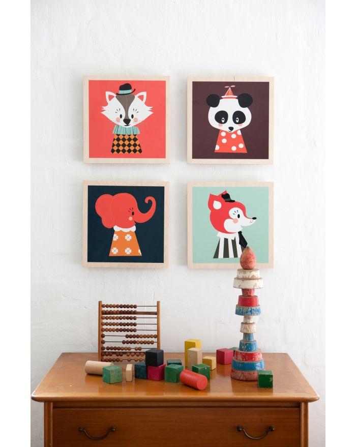 ferm living cadre en bois posey panda kids love design. Black Bedroom Furniture Sets. Home Design Ideas