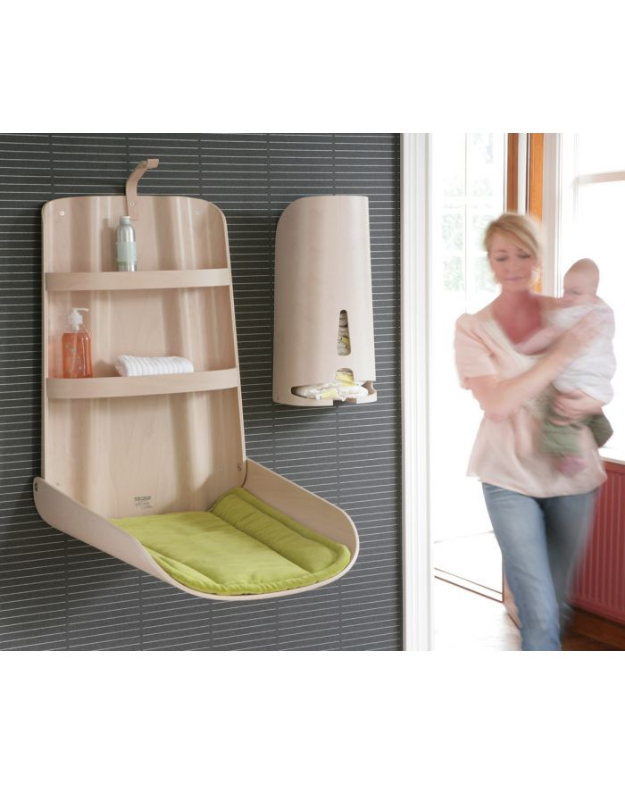 Bybo Design Wall Mounted Changing Table In Wood Nathi