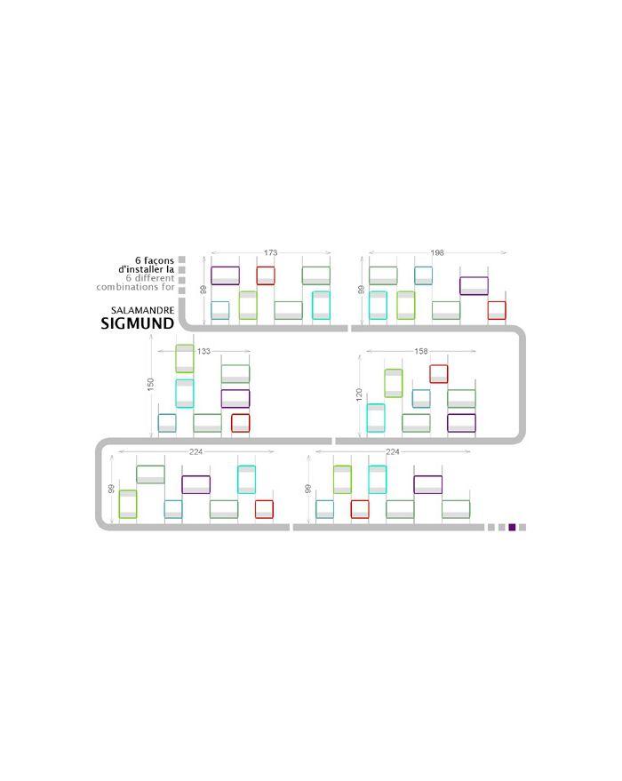 NONAH-SALAMANDRE SIGMUND-Etagères 7 modules