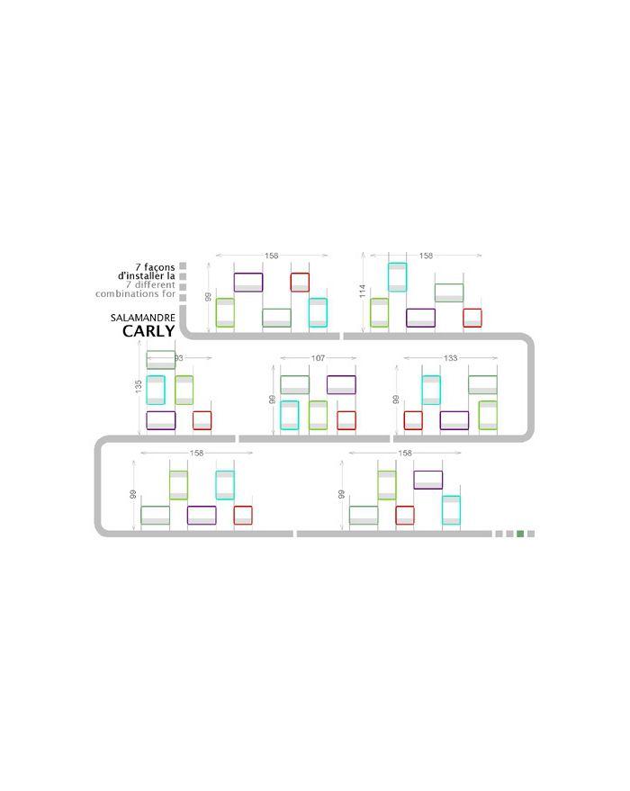 NONAH-SALAMANDRE CARLY-Etagères 5 modules