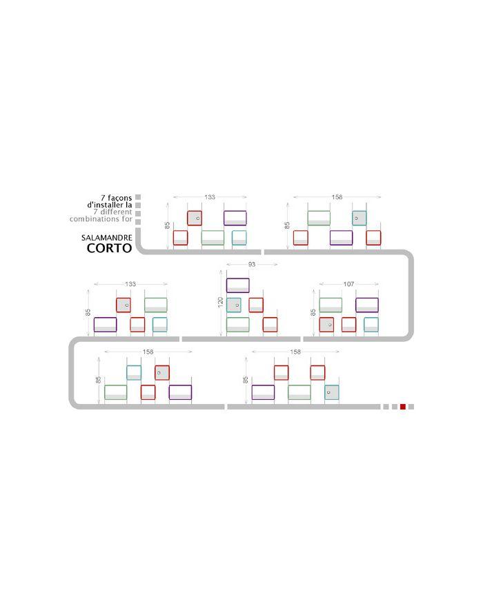 NONAH-SALAMANDRE CORTO-Etagères 5 modules