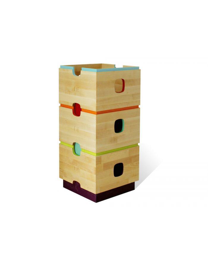 NONAH-ALERCE-Tour de rangement 3 boîtes