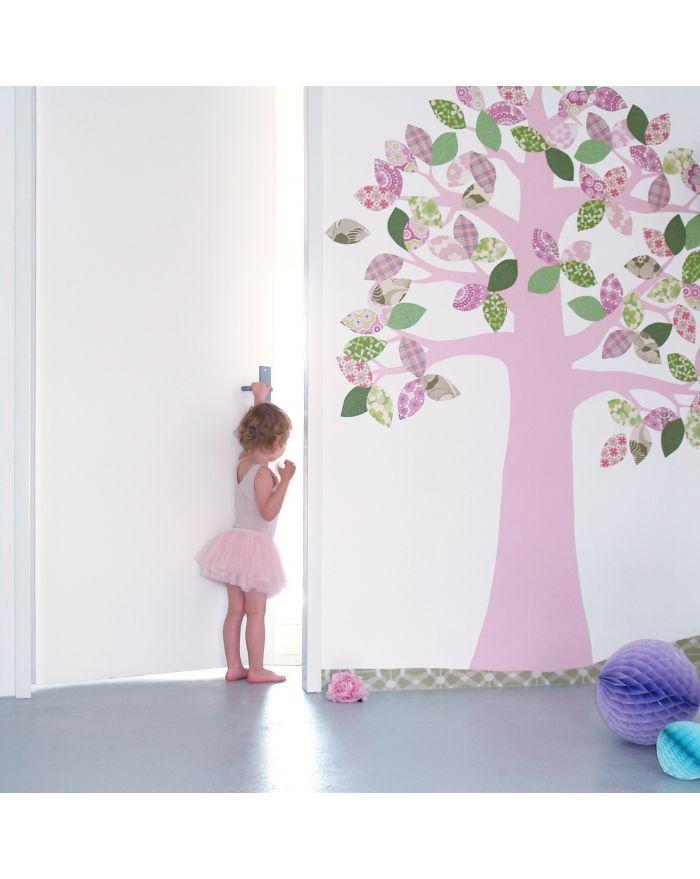 Inke decoration murale papier peint vintage d coration arbre pour chambre bebe et enfant - Papier peint enfant vintage ...