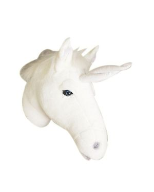 WILD & SOFT - Trophy in plush - White unicorn