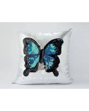 PAOLA ALONSO - Coussin paillette papillon