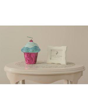 PAOLA ALONSO - Tirelire Cup Cake en paillette Bleu & Rose