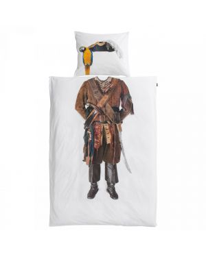 SNURK - Duvet cover 140 x 200 cm + Pillow case 65 x 65 cm PIRATE
