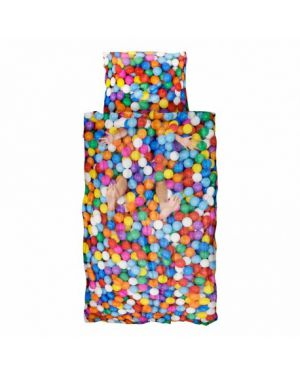 SNURK - Duvet cover 140 x 200 cm + Pillow case 65 x 65 cm BALL PIT