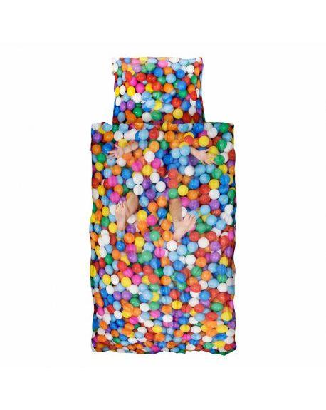 SNURK - Duvet cover 140 x 200 cm + Pillow case 65 x 65 cm BALL PIT