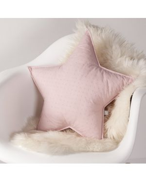 NUNUNU - Cushion - Pink Plumetis
