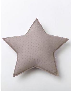 NUNUNU - Cushion - Taupe Plumetis