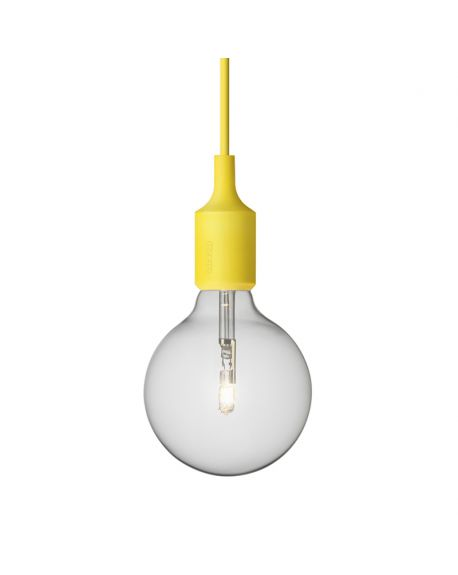 MUUTO-E27 - PENDANT LIGHT - Yellow