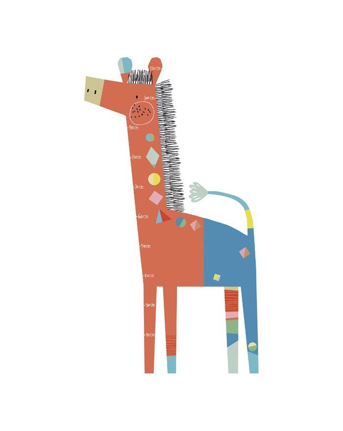 lilipinso toise adh sive girafe. Black Bedroom Furniture Sets. Home Design Ideas