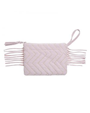JACK N'A QU'UN OEIL - ZIGZAG BAGUETTE BAG - Hand Bag - Light Pink