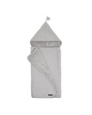 JACK N'A QU'UN OEIL - ZIGZAG JUPITER - Bath cape - Light Grey