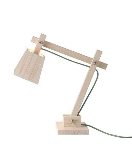 MUUTO-WOOD LAMP-Lampe de bureau design Cordon vert