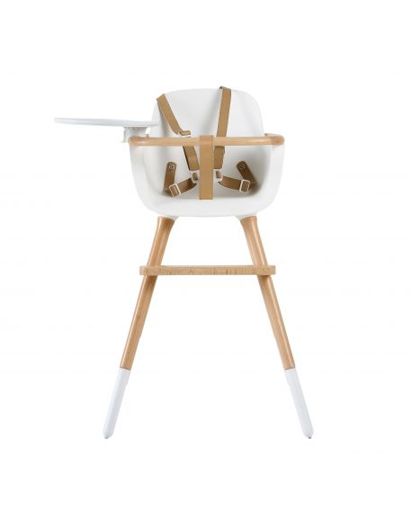 MICUNA OVO ONE LUXE - DESIGN HIGH CHAIR - White/Natural beech