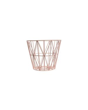 FERM LIVING - Wire Basket small - pink