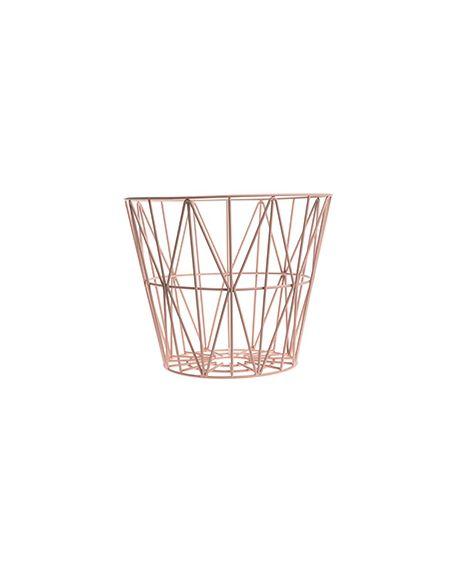 FERM LIVING - Panier Wire moyen - Rose