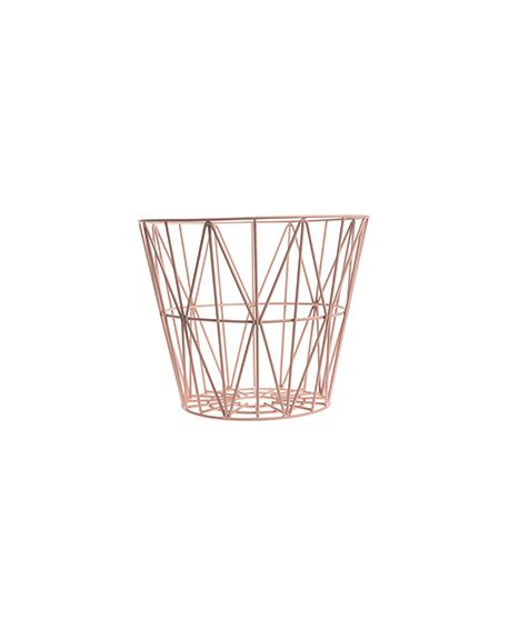 FERM LIVING - Panier Wire - moyen - Rose