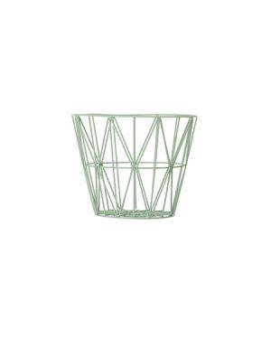 FERM LIVING - Panier Wire - moyen - Vert amande