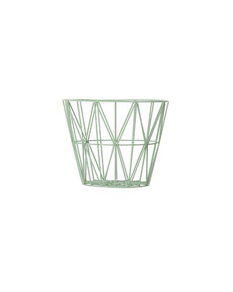 FERM LIVING - Panier Wire moyen - Vert amande