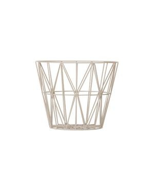 FERM LIVING - Panier Wire grand- Gris