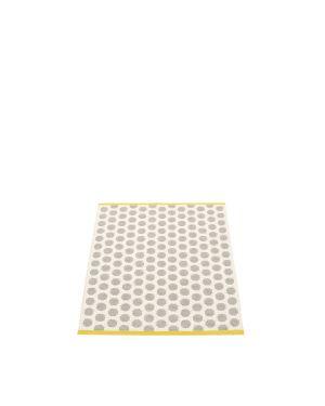 PAPPELINA - NOA GRIS/MOUTARDE - Tapis design en plastique 70 x 90 cm