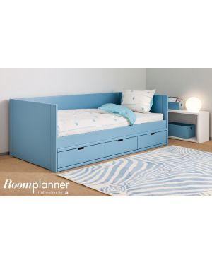 ASORAL - Bed with 3 drawers - Liso Nido bed (20 colors)