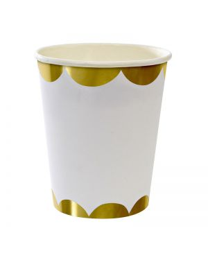 Meri Meri - Gold Party cups - x 8 (260 ml)