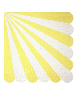 Meri Meri - Petites serviettes rayées - x 20 - (127 x 127 mm)