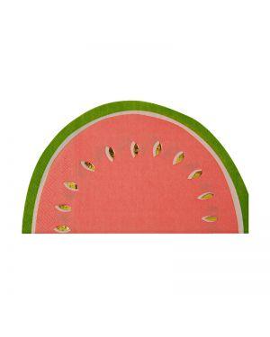 Meri Meri - Petites serviettes pastèque - x 16 - (95 x 165mm)