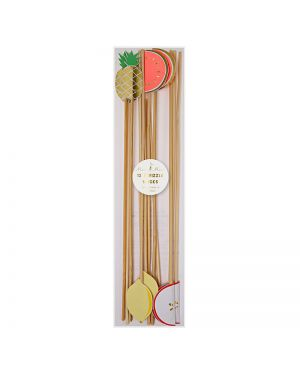 Meri Meri - fruit swizzle sticks - x 12 - 80 x 290 x 6mm