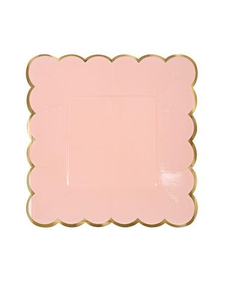 Meri Meri - Pastel large plates - x 8 - 230 x 230 mm