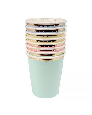 Meri Meri -PASTEL CUPS - x 8 (260 ml)