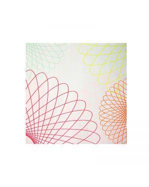 Meri Meri - neon spiro small napkin - x 20 - 125 x 125 mm