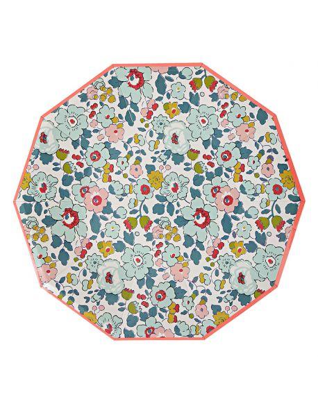 Meri Meri - betsy large plates - x 12 - 180 x 180 mm