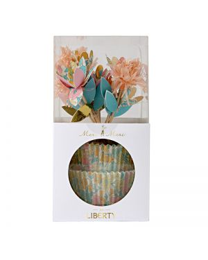Meri Meri - Liberty poppy & daisy cupcake kit - 70 x 150 x 70mm