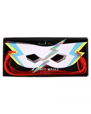 Meri Meri - zap! party masks - x 8 - 205 x 65 x 12mm