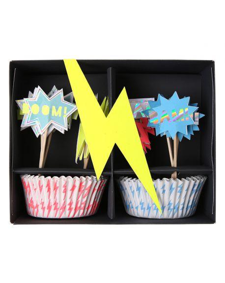 Meri Meri - super hero cupcake kit - 140 x 115 x 75mm