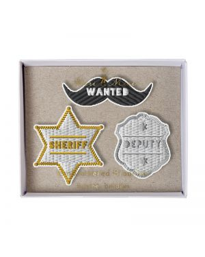 Meri Meri - SHERIFF BROOCHES - x 3 - 95 x 80 x 20mm