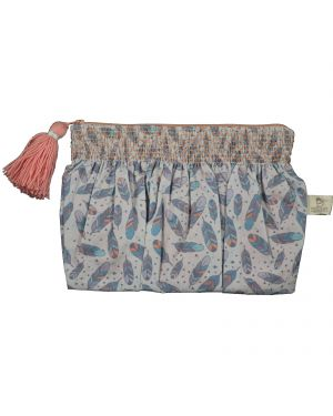 Les Petits Vintage - SMOCKED CLUTCH - FEATHERS